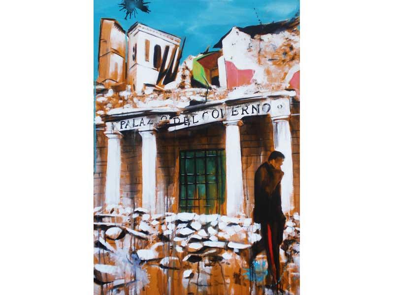 Walter Xausa –  Palazzo del Governo – serigrafia, cm 100x 70, 2009 - Ed 1/99